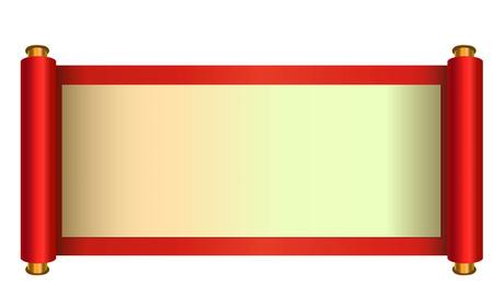 Chinese stijl scroll vector illustratie
