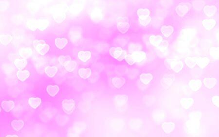 love wallpaper: Bright pink heart-shaped bokeh background