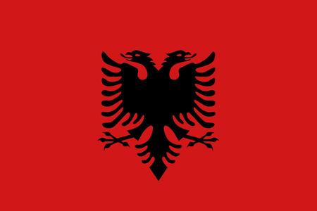 double headed: Flat Albania flag vector