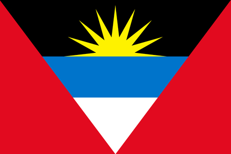 antigua: Flat Antigua and Barbuda flag vector
