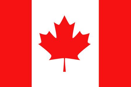 canadian maple leaf: Flat Canada flag background vector illustration Illustration