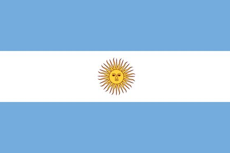 argentina flag: Flat Argentina flag background vector illustration