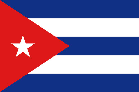 cuban flag: Flat Cuba flag vector background Illustration