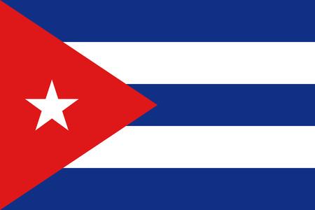 triangle flag: Flat Cuba flag vector background Illustration