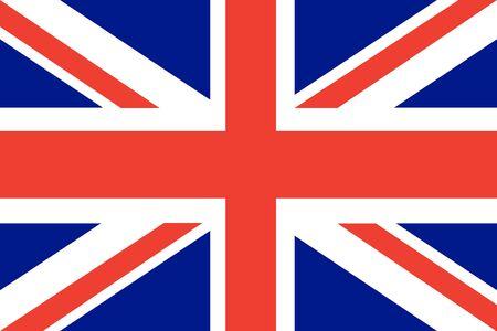 bandera de gran bretaña: bandera de vectores de fondo plana Gran Bretaña