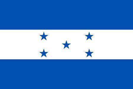 bandera honduras: de fondo plano de la bandera del vector Honduras Vectores