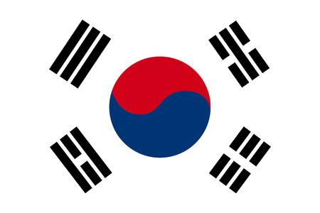 korea flag: Flat South Korea flag Illustration
