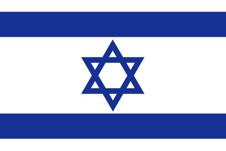 rightly: Flat Israel flag
