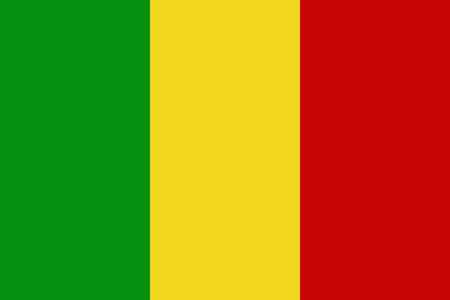 bamako: Flat Mali flag vector background