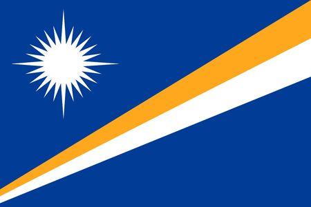 marshall: Flat Marshall Islands flag vector background