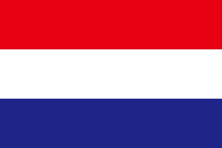 Flat Nederland vlag vector achtergrond
