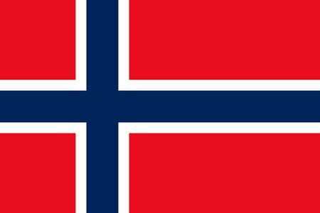 correctly: Flat Norway flag vector background