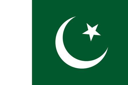 Flat Pakistan flag vector background