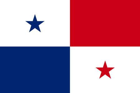 bandera de panama: de fondo plano de la bandera del vector Panamá