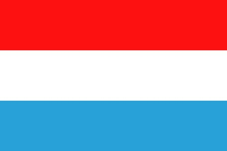 luxembourg: Flat Luxembourg flag vector background Illustration