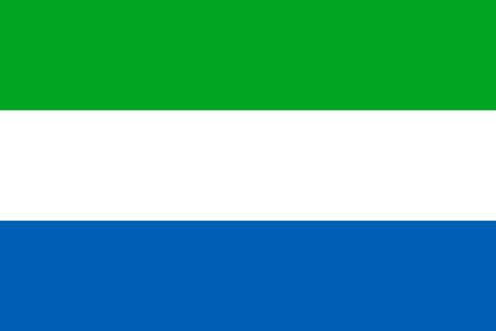 leone: Flat Sierra Leone flag vector background