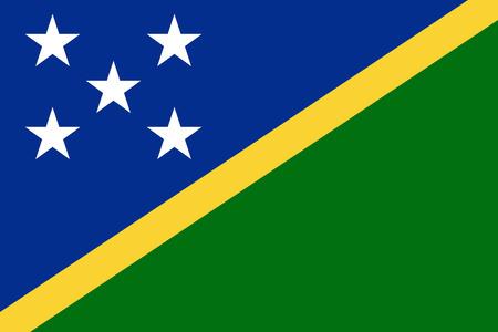 solomon: Flat Solomon Islands flag vector background Illustration