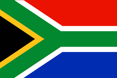 Flat South Africa flag vector background