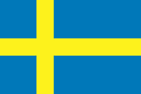 Flat Sweden flag vector background 向量圖像