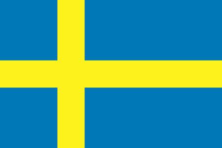 Flat Sweden flag vector background Illustration