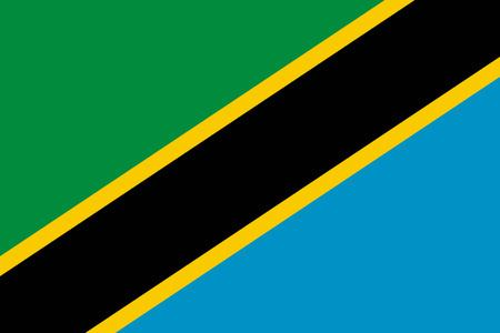 tanzania: Flat Tanzania flag vector background