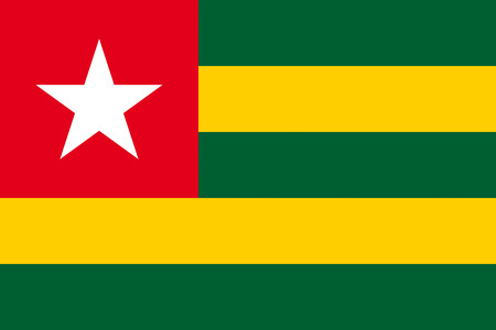 togo: Flat Togo flag vector background