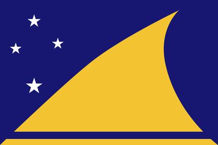 tokelau: Flat Tokelau flag vector