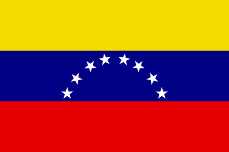 venezuela: FLat Venezuela flag vector background Illustration