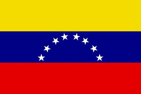 FLat Venezuela flag vector background Illusztráció