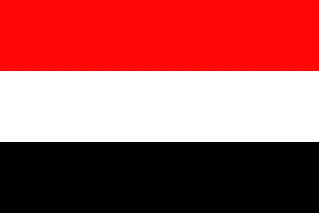 yemen: FLat Yemen flag vector background