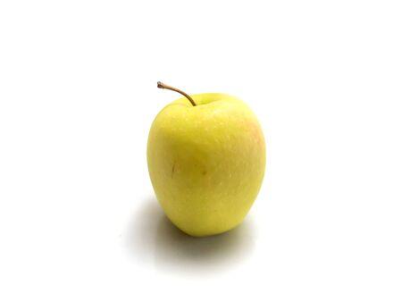 newzealand: Isolated yellow Newzealand apple on white background