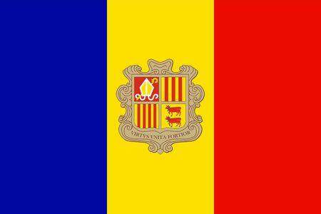 andorra: Flat Andorra flag vector background