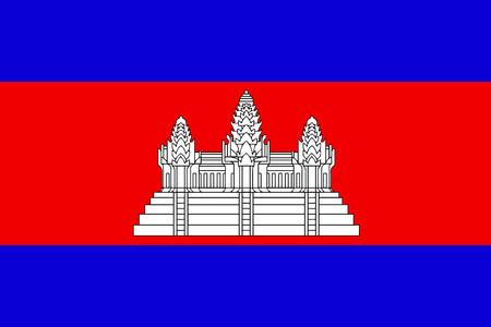フラットのカンボジアの国旗ベクター背景