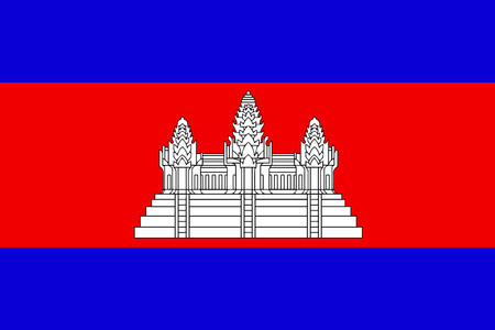 cambodian flag: Flat Cambodia flag vector background