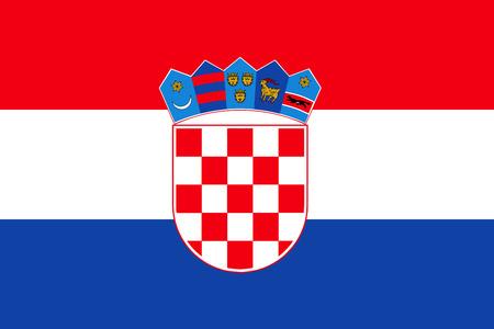 bandera de croacia: fondo plano vector de la bandera de Croacia Vectores
