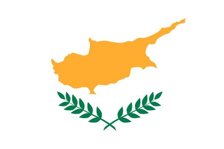 cyprus: Flat Cyprus flag vector background Illustration