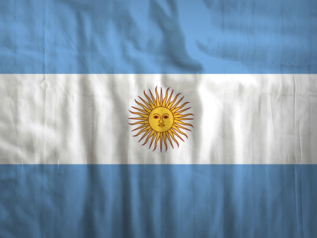 argentina flag: Fabric Argentina flag background Stock Photo