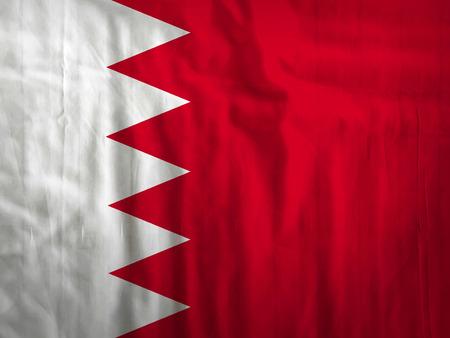 bahrain: Fabric Bahrain flag background texture Stock Photo