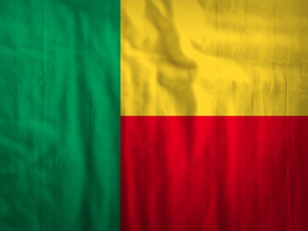 benin: Fabric Benin flag background texture Stock Photo
