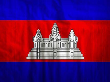 cambodia: Fabric Cambodia flag background texture