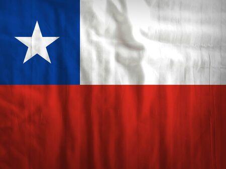 bandera de chile: Tela Chile textura de fondo de la bandera
