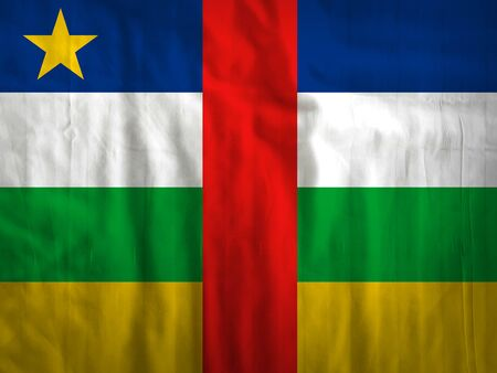 Fabric Central Africa flag background texture