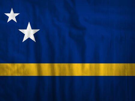 curacao: Fabric Curacao flag background texture