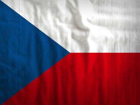 czech republic flag: Fabric Czech Republic flag background texture