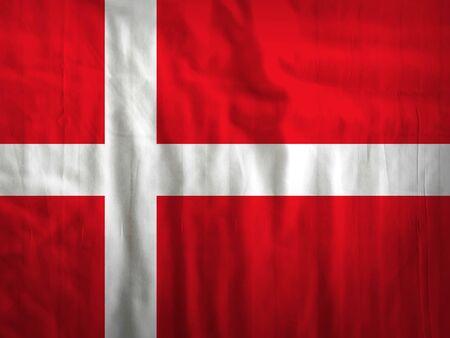 denmark flag: Fabric Denmark flag background texture