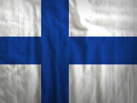 Stoff Finnland-Flagge Hintergrundtextur