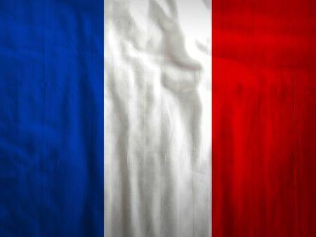 Stoff Frankreich Flagge Hintergrund Textur