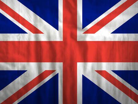 bandera de gran bretaña: Fabric Great Britain flag background texture