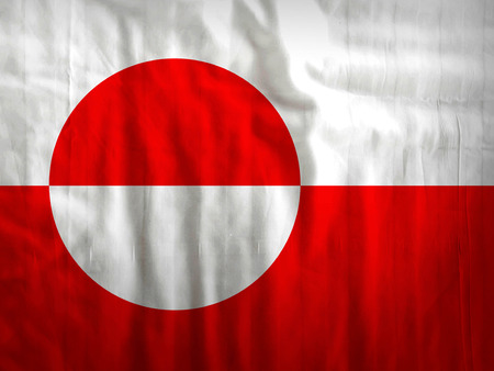 nuuk: Fabric Greenland flag background texture