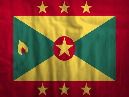 Fabric Grenada flag background texture